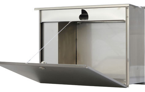 zaunbriefkasten mit sprecheinheit entnahme von hinten. Black Bedroom Furniture Sets. Home Design Ideas